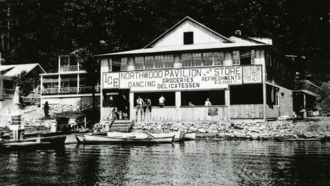 The Northwood section of Hopatcong, as it looked when Bud and Betty Abbott rented the house to the left of the Northwood Pavilion, commonly called Glasser's Pavilion.