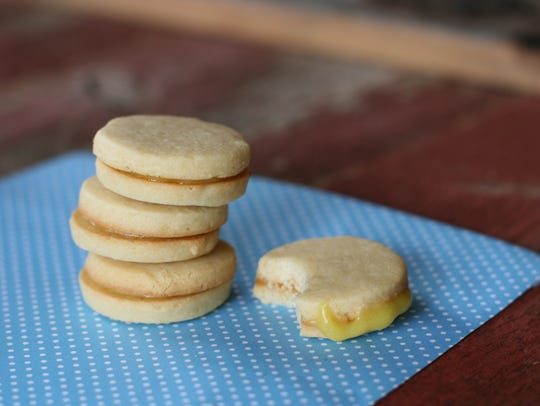 Lemon sandwich cookies, with homemade curd, will sweeten