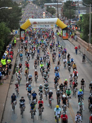 File: The 35th Annual Hotter 'N Hell Hundred got underway Saturday morning with 9,238 riders enjoying cooler-than-average temperatures.