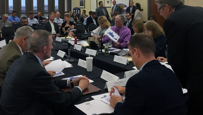 Representatives of eight Great Lakes states met in Chicago June 21, 2016, to approve Waukesha's request to switch to a Lake Michigan water supply. A binational group representing mayors of Great Lakes cities in the U.S. and Canada announced Wednesday that it would not file a federal lawsuit to block the diversion.