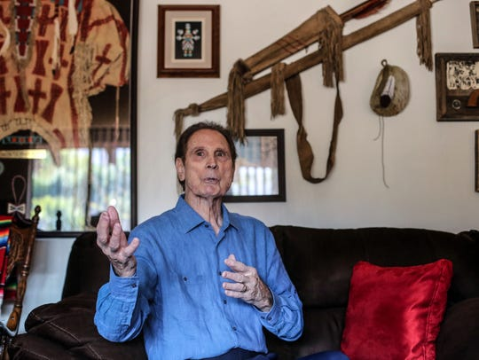 Actor and author Michael Dante at his home in Rancho