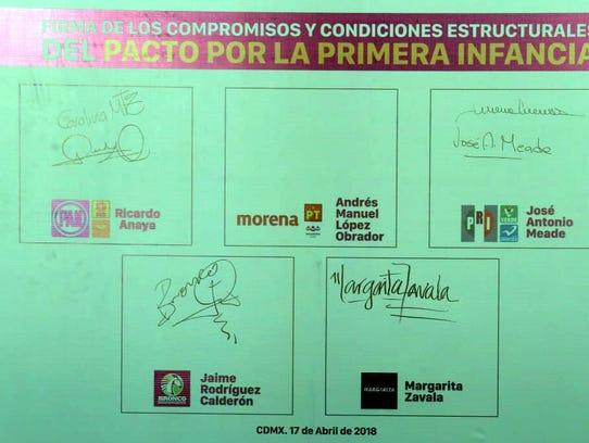 Excepto por Andrés Manuel López Obrador, la y los candidatos