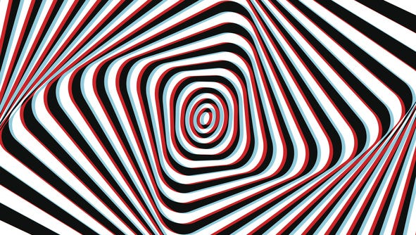 Optical Illusion - Anaglyph Opt Art Illustration
