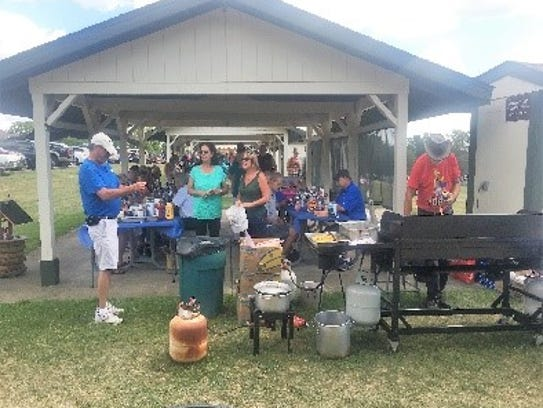 Post members enjoyed their annual picnic Aug. 6 at