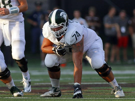 Jack Conklin, who played left tackle for the past three years, could become the first Michigan State offensive lineman taken in the first round since 1989.