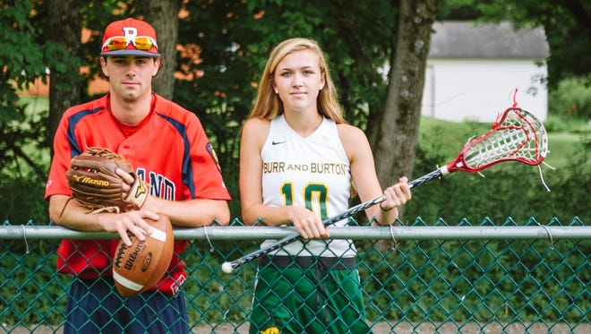 Rutland's Andy Kenosh and Burr and Burton's Aggie Bisselle are this year's Burlington Free Press' athletes of the year.
