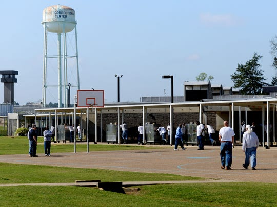 Inside the David Wade Correctional Center.