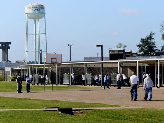 Inside the David Wade Correctional Center.