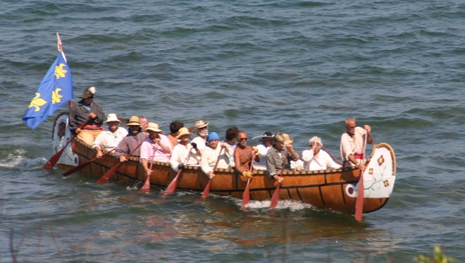 Members of the Saginaw Voyageurs will paddle down the St. Clair River after launching into the Black River on July 21.
