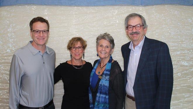 Guest Presenter Webb Weiman; JFS Auxiliary President Lois Gold; JFS Executive Director Maureen Forman; JFS Assistant Treasurer Ed Gubman