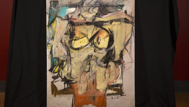 """Willem de Kooning's """"Woman-Ochre"""" painting on display, Aug. 14, 2017, at the University of Arizona Museum of Art, 1031 N. Olive Road, Tucson."""