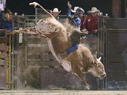 Joe Frost bull riding