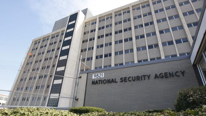 The National Security Agency building in Fort Meade, Md.