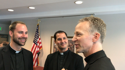 Newly-appointed Bishop-elect William A. Wack speaks