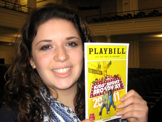 George Basler photographed me and my Playbill in Binghamton