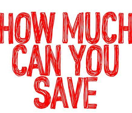 Hand writing the question How Much Can You Save?