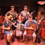 Starring in Woody Guthrie's American Song are, from left, Kendra Jo Brook, Ian Brodsky, Jennie Malone, Sean Powell and Craig MacDonald.