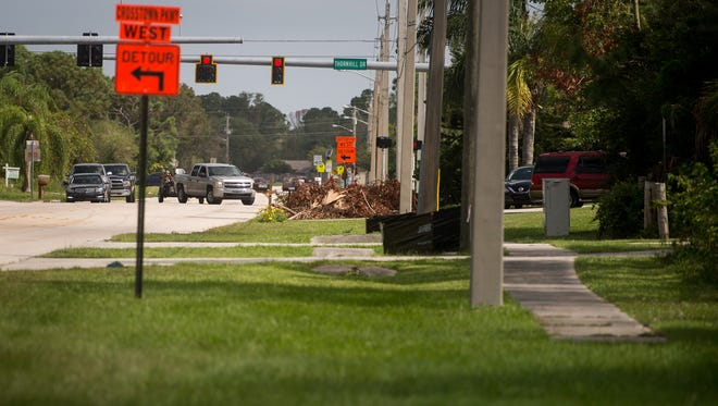 There are no sidewalks for much of Southeast Floresta Drive south of Thornhill Drive, as seen Oct. 1, 2017, in Port St. Lucie.