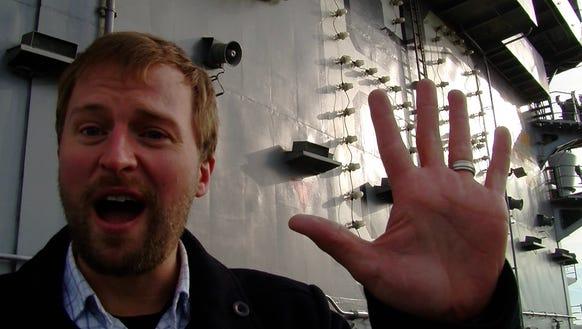 Josh Farley on the Nimitz Friday.