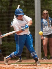 University of West Florida Callan Taylor keeps her eye on the ball during Thursday's first round NCAA South Region game against Claflin University.