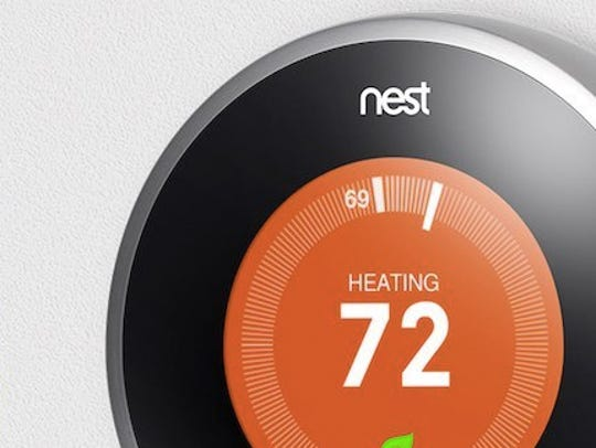Nest thermostat controls your home's heating system