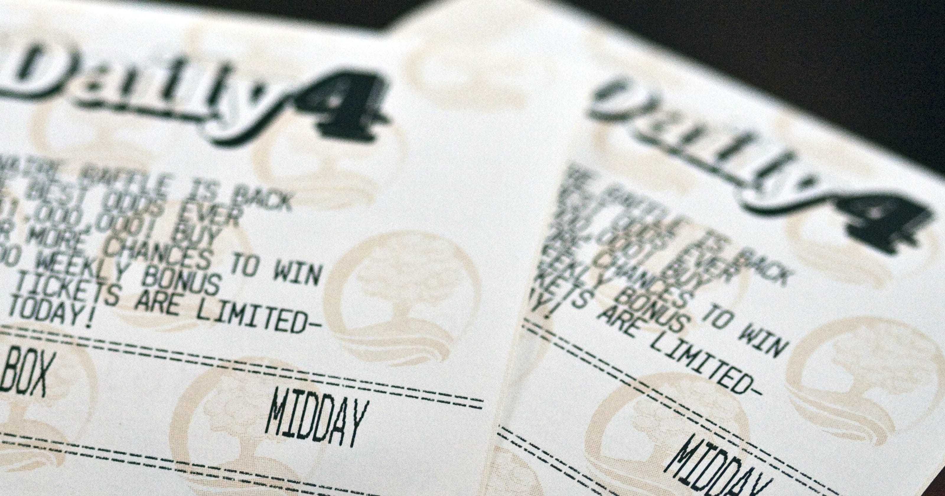 Lottery numbers come up twice in 1 day
