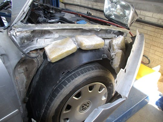 U.S. Customs and Border Protection officers seized 395 pounds of marijuana with an estimated value of about $316,000 at El Paso ports of entry Tuesday.