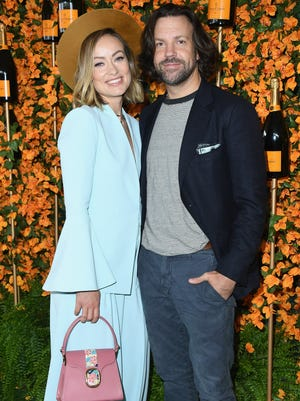 Olivia Wilde and Jason Sudeikis attend the 9th Annual Veuve Clicquot Polo Classic Los Angeles in Pacific Palisades, Calif.