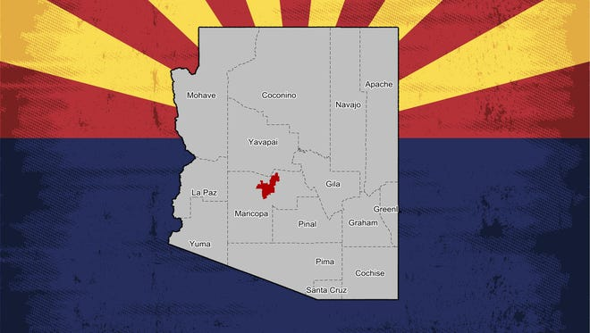 A map of Arizona's 8th Congressional District.