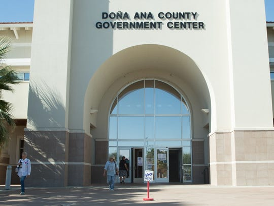 Early voter turn out are extreamly high this election cycle. Pictured is the Doña Ana County Government Center, the early voting location for the county on Thursday October 20,2016,