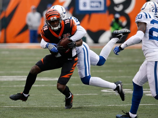 Cincinnati Bengals wide receiver A.J. Green (18) is