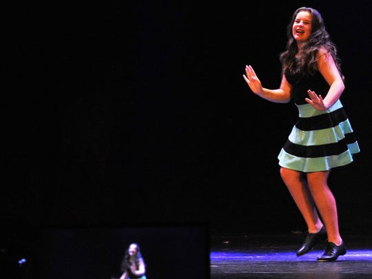 Wichita Theatre student and performer Alyssa Minuto tap danced during a social media video stream on the theater's main stage to help raise funds during the Texoma Gives 16-hour fundraising event.