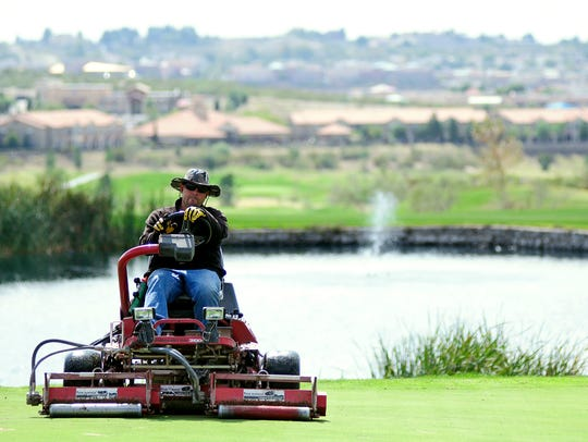 Sonoma Ranch Golf Course groundskeeper Daniel Trujillo