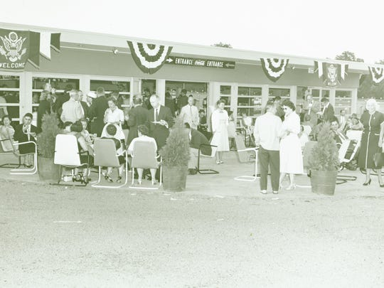 The concession stand at the August 1956 grand opening of Orangeburg's Route 303 Drive-In.
