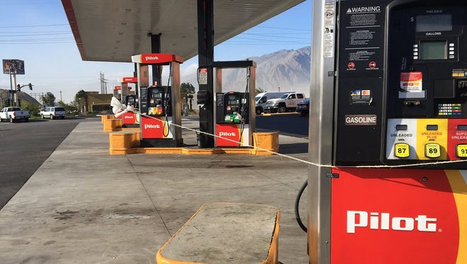 An Indian Canyon gas station near Interstate 10.