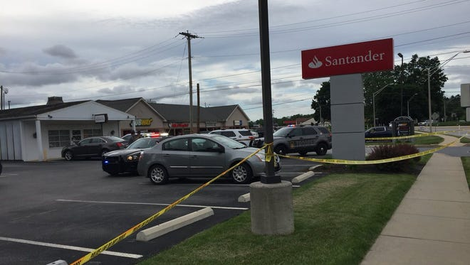 A shooting was reported at a Santander Bank in Spring Grove at around 4:45 p.m. Wednesday, according to York County 911.