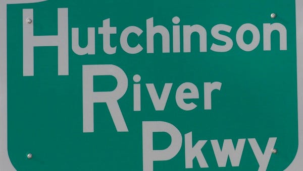 Hutchinson River Parkway road sign.