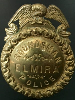 The estate of a former Elmira police officer donated this late 1800s Elmira police badge to the department.