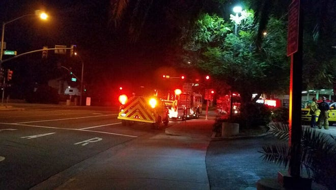 Crews responded to a chemical spill Monday night in Camarillo.