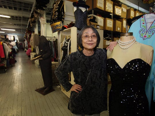 Yon Zweibon, the owner of Beyond Costumes is photographed at her Yonkers warehouse.