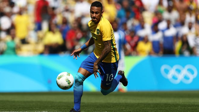 Neymar is focused on a gold medal in soccer - and a little revenge against Germany.