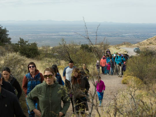 More than 50 hikers came out to Soledad Canyon on Friday,