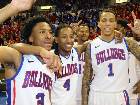 The LA Tech Bulldogs are the 2014-15 Conference-USA mens basketball regular season champions. The Bulldogs beat USM 72-61 at the TAC on Thursday night to take the title.