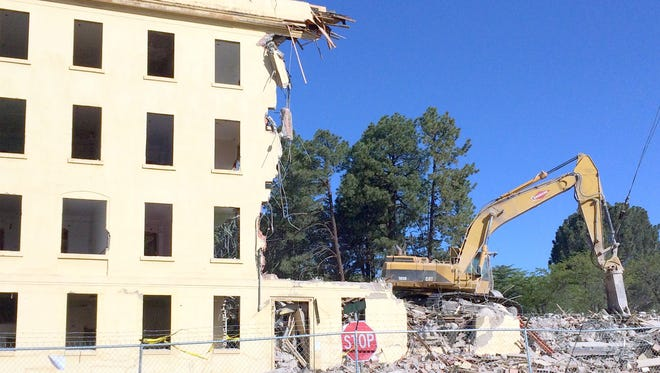Demolition of the old Fort Bayard hospital has begun and will continue for the next few weeks.