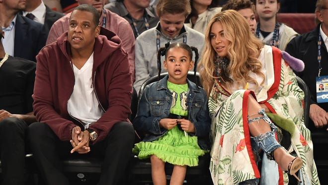 Bey, Jay and Blue's previous family outing was a trip to the NBA All-Star Game in February in New Orleans.