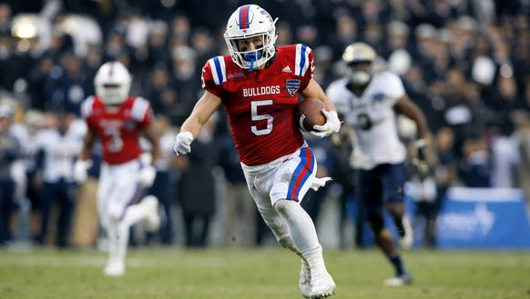 Louisiana Tech wide receiver Trent Taylor (5) finished
