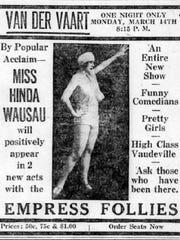 Vander Vaart Theater Ad, 1928 when the theater still