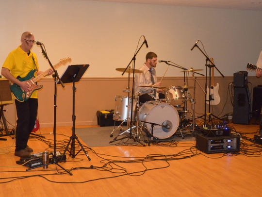 The Bad Weather Blues Trio performed during the Zombie