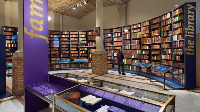 The 2006 John Adams Unbound exhibit, which drew 60,000 visitors, at the Boston Public Library. BPL photo