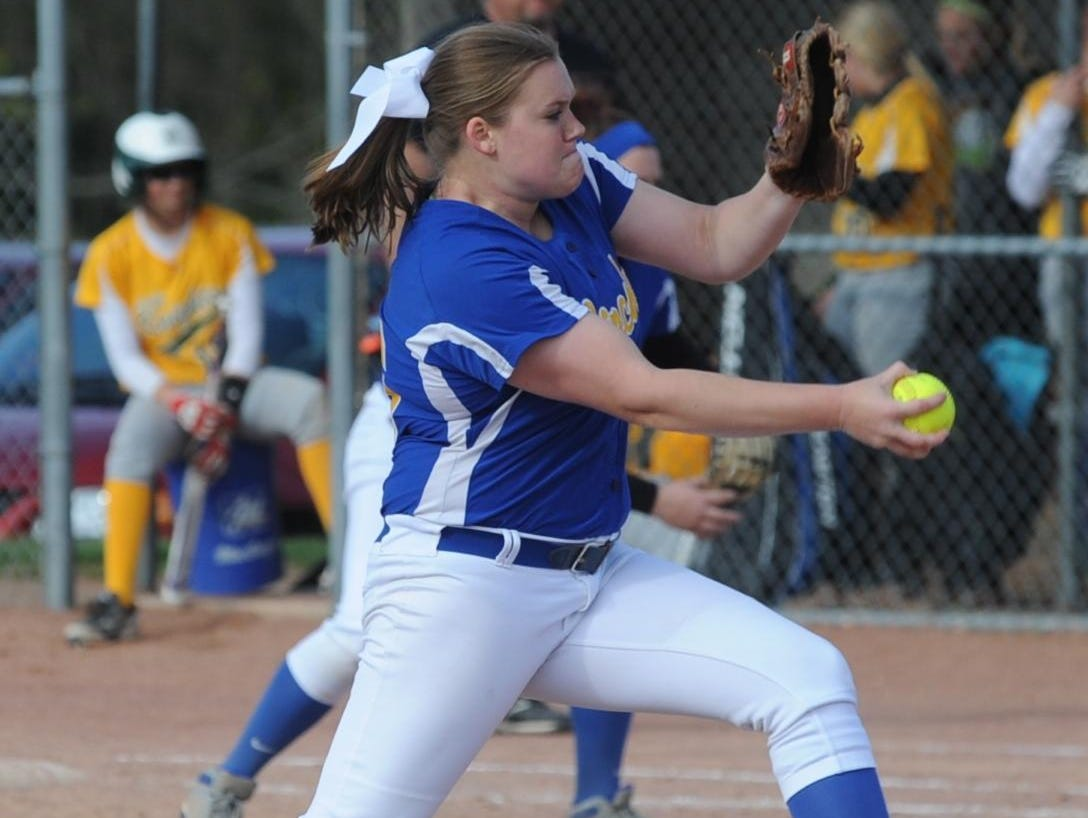 Lincoln's Sydney Griffin was once again among the state's leaders in strikeouts as she led the Golden Eagles to a sectional championship.